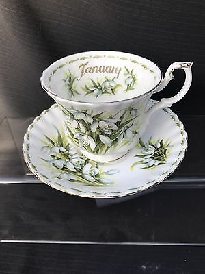 "ROYAL ALBERT  Flower of The Month Cup And Saucer "" Lilly"""