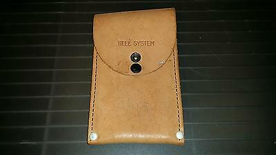 Vintage Original Authentic Bell System Leather Lineman Tool Snap Pouch