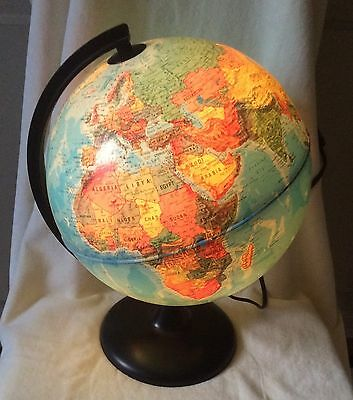 Tecnodidattica Orion 25 Light Up Globe World Map Political & Physical Geography