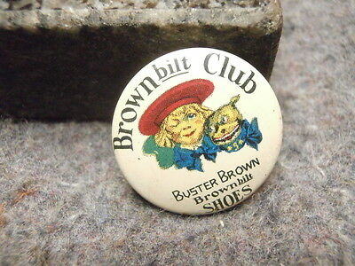 Vintage Lapel Pin/buster Brown  Lapel Pin/brown Bilt Club/buster Brown Shoes
