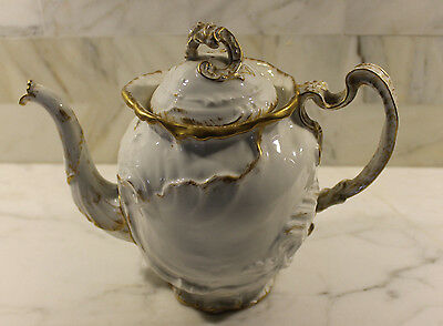 G.D. & C, Limoges Teapot with Gold Trim, Depose, 1615465, Ornate, No Issues!