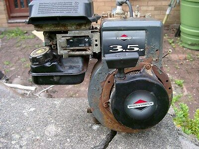 Briggs and Stratton 3.5HP horizontal shaft engine in good working condition