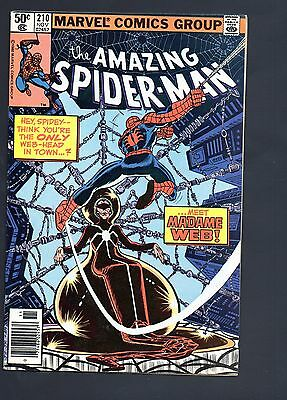 Amazing Spider-Man 210 VF+ 1st Appearance Madame Web