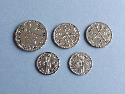 South Rhodesia Collection of 5 Coins (L4-58)