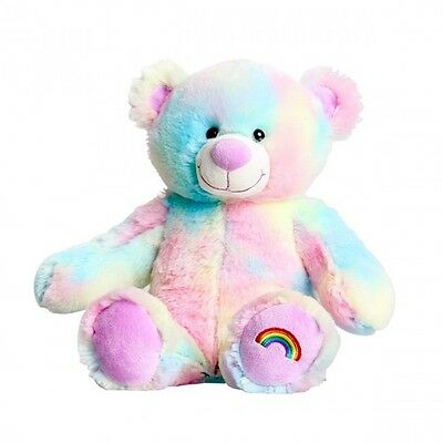 "Rainbow Bear 10"" - Build a Plush Teddy Bear Furry Friend Party Kit"