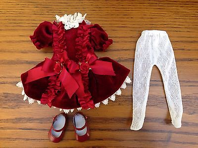"""Effanbee Tonner NEW Patsy's A VISION IN VELVET OUTFIT Fits 10"""" Patsy/Ann Estelle"""