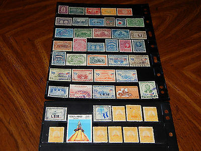 Honduras stamps - BIG lot of 47 mint hinged and used early stamps - super !!