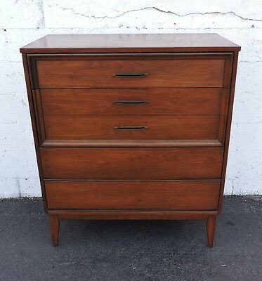 Mid-Century Modern Walnut Chest of Drawers by Dixie 7494