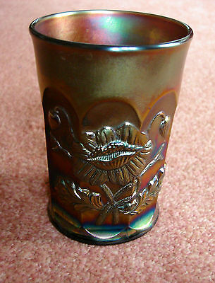 Northwood carnival glass Tumbler.Poppy.Excellent.