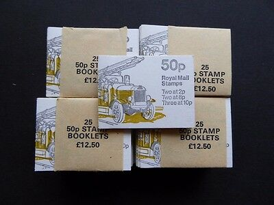 GB 1978 50p FIRE ENGINE FOLDED BOOKLETS X100 IN 4 BANDS SG FB9 CAT £500