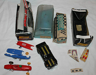 Vintage Scalextric cars and boxes lot spares