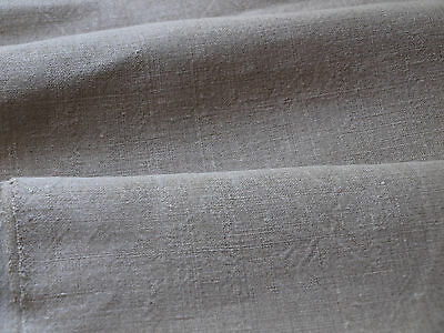 Antique HandWoven Linen Flax Homespun Vintage Fabric Natural Material 1 Yards