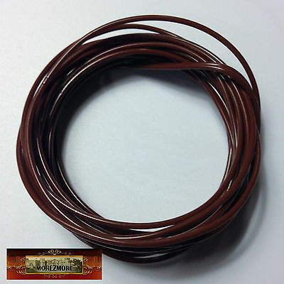 M01252a MOREZMORE Twisteez BROWN Fun Craft Wire Plastic Coated 24 GA Soft A60