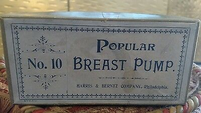 antique breast pump advertising popular no 10 with box