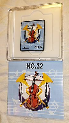 Embroidery Design Card #32 Bernina Brother Baby Lock Music Piano Guitar Flute