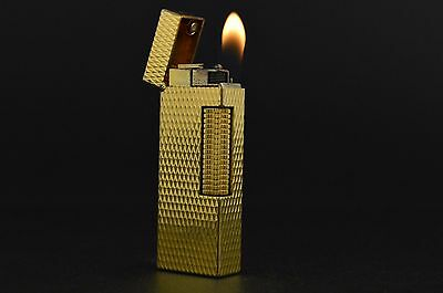 Dunhill Lighter Rollagas Serviced Working Vintage New O-rings Switzerland #335