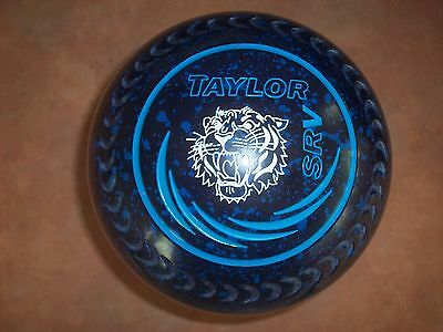 Taylor SRV Lawn Bowls Size 5H WB24 Gripped Blue Speckled - Tiger