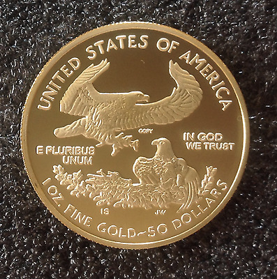 2 - $50 Gold LIBERTY AMERICAN EAGLE Tribute Proof Coins - 24 KT Gold Clad