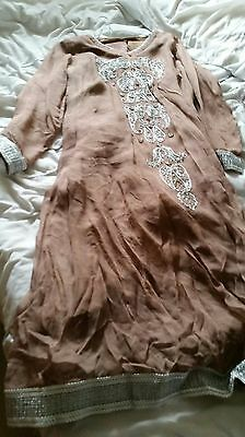 salwar shalwar kameez lengha anarkali indian asian suit churidhar. Size 12 / L