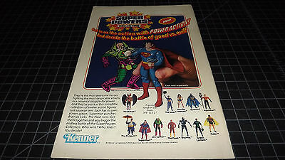 Vintage Kenner Super Powers Collection  PRINT AD 1984 RARE  Action Figures