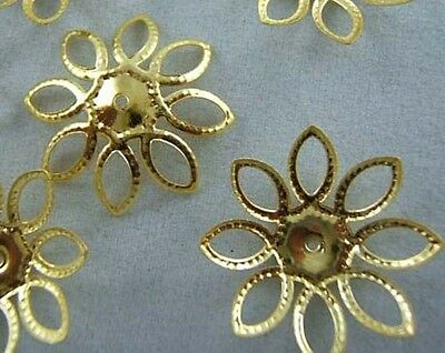 NEW style 50pcs Gold Plated Bead Caps Jewerly Findings 20mm B043