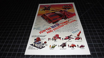 Vintage Kenner The Mask  PRINT AD 1985 RARE  Action Figures TOYS TV Playset
