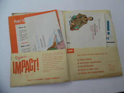 1955 FRIGIDAIRE Dealer Appliance Sales Merchandising Kit Brochures Vintage BIG