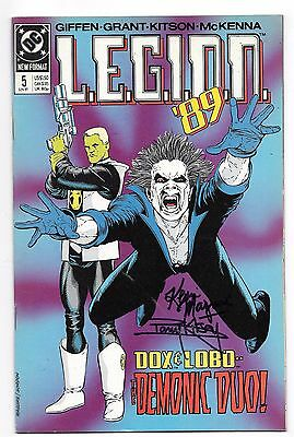 LEGION '89 5 SIGNED 2X BY KEVIN MAGUIRE & BARRY KITSON LOBO Vril Dox DC COMICS