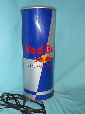 Red Bull Lighted Can Sign energy drink collectible man cave bar restaurant pub ~