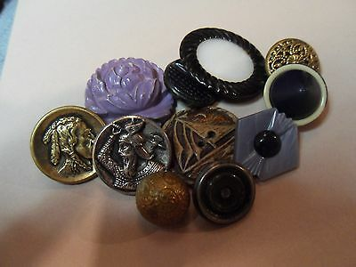 Victorian Antique Variety Button Lot... Lovely Buttons...Large Variety Lot
