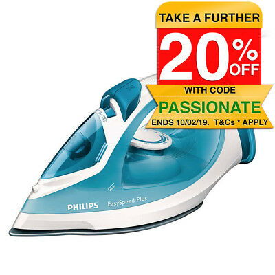 Philips GC2040 Steam Iron Non-stick 2100W/Clothes/Garment Ironing/Self Cleaning