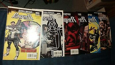 Punisher 1 2 3 4 5 6 variant covers comics lot run daredevil tv show collection