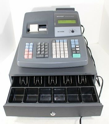 Sharp Programmable XE-A406 Electronic Electric Cash Register with Cash Drawer