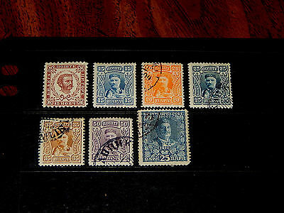 Montenegro stamps - 7 mint hinged and used early stamps - super !!
