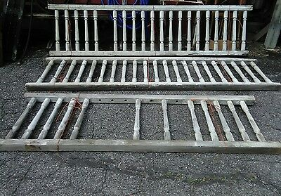 3 Sections 53 Balusters Antique Spindlle Wood Porch Railing Architectural