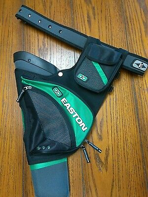 Easton Elite Green Left Hand Hip Quiver With Easton Belt. FREE SHIPPING!