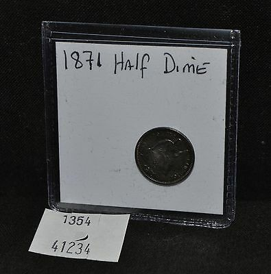 West Point Coins ~ Seated Half Dime 1871 Full Liberty