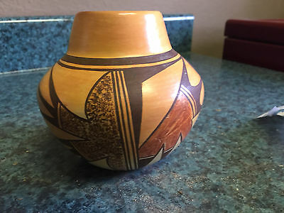 Hopi Fluted Jar signed by Stella Huma from John Lauc Collection