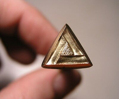 013-09 Triangle BORDER leather stamp Brass Saddlery Tool Punch 3D homemade
