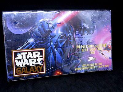 "Star Wars ""galaxy One,two,three"" Trading Card Box Lot"