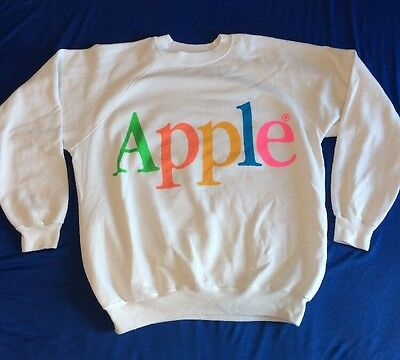 Vtg 1980s RARE Apple Computer Sweatshirt Size Mens XL 46-48