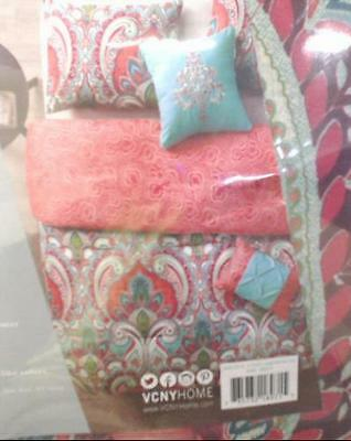 NEW VCNY 5pc Casa Real Reversible Duvet Cover Size Full / Queen $215