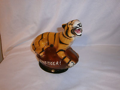 """Vintage """"Hold-That-Tiger"""" Double Springs Enpty Whiskey Decanter"""