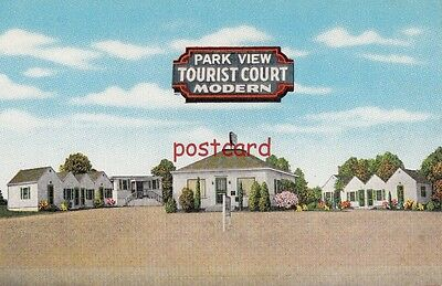 c1950's MARYVILLE TN Park View Tourist Court, motel, Jimmy Murray owner - Modern