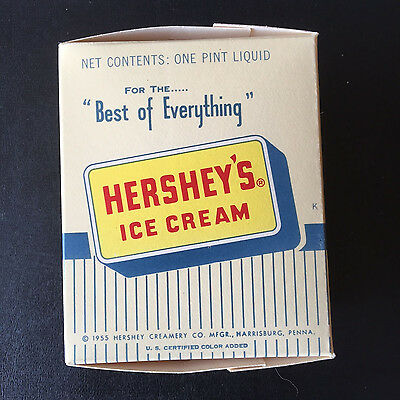 Original & Rare 1955 Hershey's Ice Cream Box - Harrisburg, Pennsylvania.