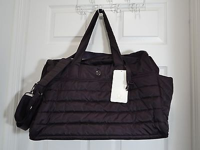 New With Tag Lululemon Get Lost Duffel Bag Black Cherry Gym Yoga Work Travel