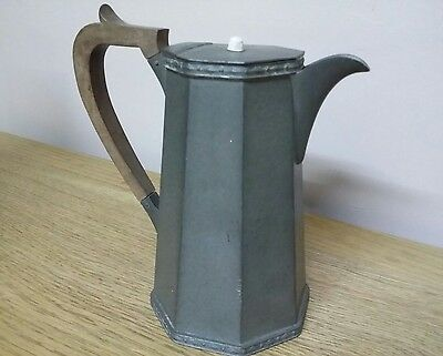 Art Deco craftsman pewter tea pot Sheffield
