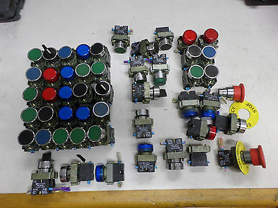 TELEMECANIQUE - BULK LOT of BUTTONS LAMPS and SWITCHES - 22mm dia