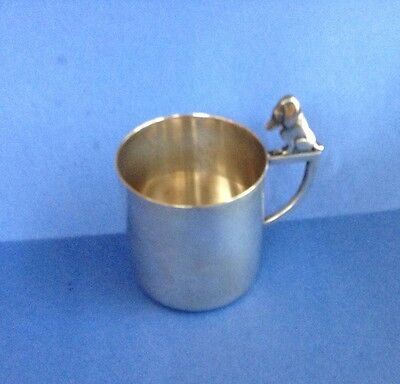 Wmf Silverplate Child Mug. Dog Handle