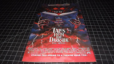Vintage Tales from the Darkside Movie PRINT AD 1990  RARE  Romero Stephen King